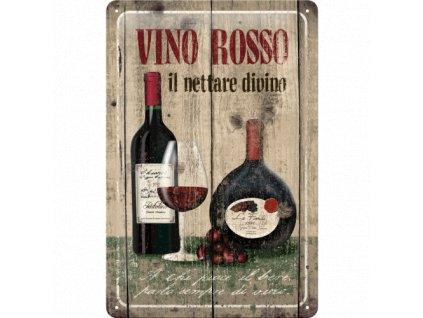 Plechová ceduľa Vino Rosso