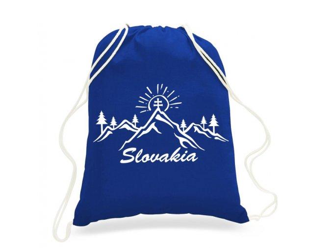 Plátený Batoh Tatry Slovakia - Modrý