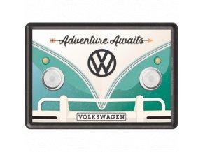 Plechová Pohľadnica VW Bulli (Adventure Awaits)