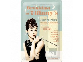Plechová Ceduľa Breakfast at Tiffanys
