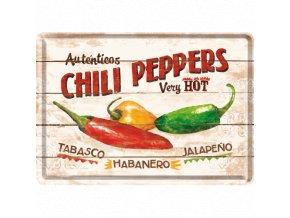 Plechová Pohľadnica Chili Peppers