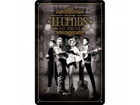 Plechová Ceduľa Legends Live Forever