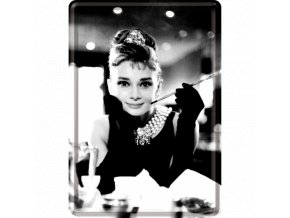 Plechová Pohľadnica Audrey Hepburn 2