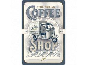 Plechová Ceduľa Coffee Shop