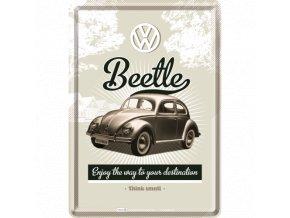 Plechová Pohľadnica VW Beetle