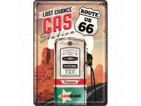 Plechová Pohľadnica Route 66 Gas Station