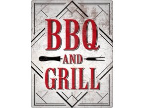 Plechová Ceduľa BBQ and Grill