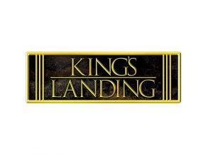 Plechová Ceduľa King's Landing