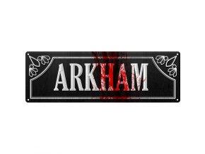 Plechová Ceduľa Arkham