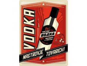 Plechová Ceduľa Vodka