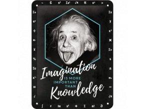 Plechová Ceduľa Albert Einstein
