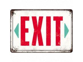 Plechová Pohľadnica Exit