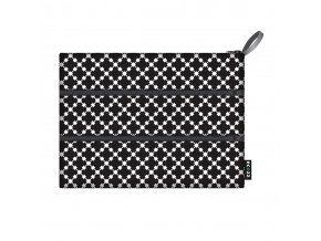 Ecozz Zip Bag - Squares black