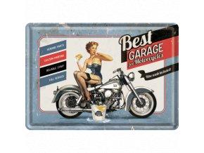 Plechová Pohľadnica Best Garage for Motorcycles