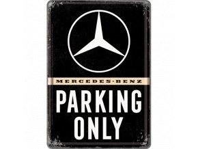 Plechová Pohľadnica Mercedes-Benz Parking Only