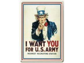 Plechová Pohľadnica I Want You For U.S. Army