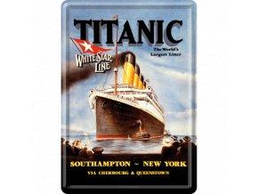 Plechová Pohľadnica Titanic