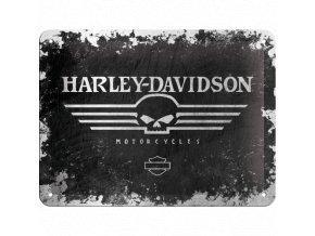 Plechová ceduľa Harley-Davidson Skull