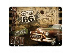 Plechová ceduľa Route 66 Drive