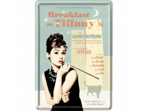 Plechová Pohľadnica Breakfast at Tiffany's