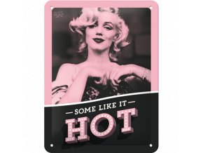 Plechová ceduľa Marilyn Monroe - Some Like It Hot