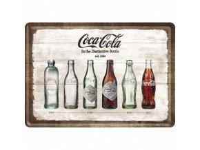 Plechová Pohľadnica Coca-Cola Bottle