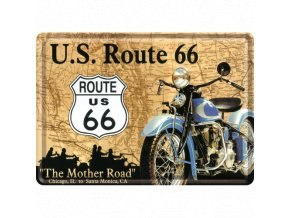 Plechová Pohľadnica U.S. Route 66