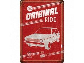 Plechová Pohľadnica VW Golf - The Original Ride