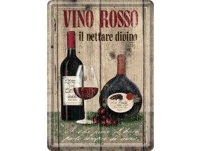 Plechová Pohľadnica Vino Rosso