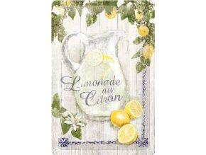 Plechová ceduľa Limonade au Citron
