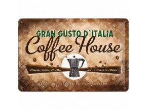 Plechová ceduľa Coffee House