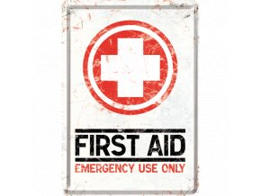 Plechová Pohľadnica First Aid