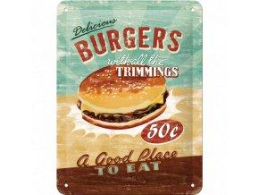 Plechová ceduľa Burgers