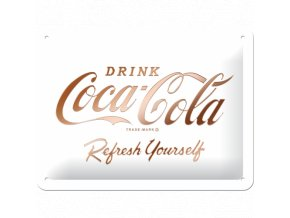 Plechová ceduľa Coca-Cola Refresh Yourself