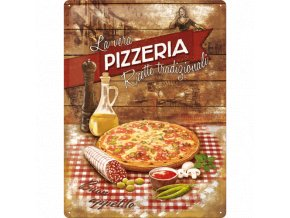 Plechová ceduľa Pizzeria
