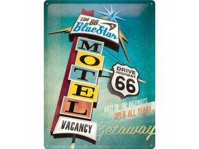 Plechová ceduľa Route 66 Bluestar Motel