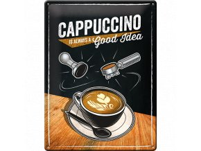 Plechová ceduľa Cappuccino