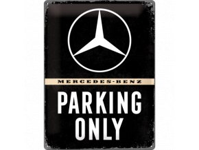 Plechová ceduľa Mercedes-Benz Parking Only (2)