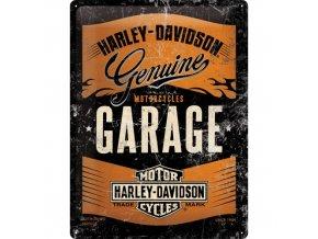 Plechová ceduľa Harley-Davidson Garage (Metalická Edícia)