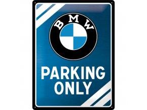 Plechová ceduľa BMW Parking Only (Metalická Edícia)