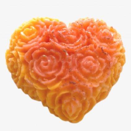 Vonné vosky do prádla květinové srdce