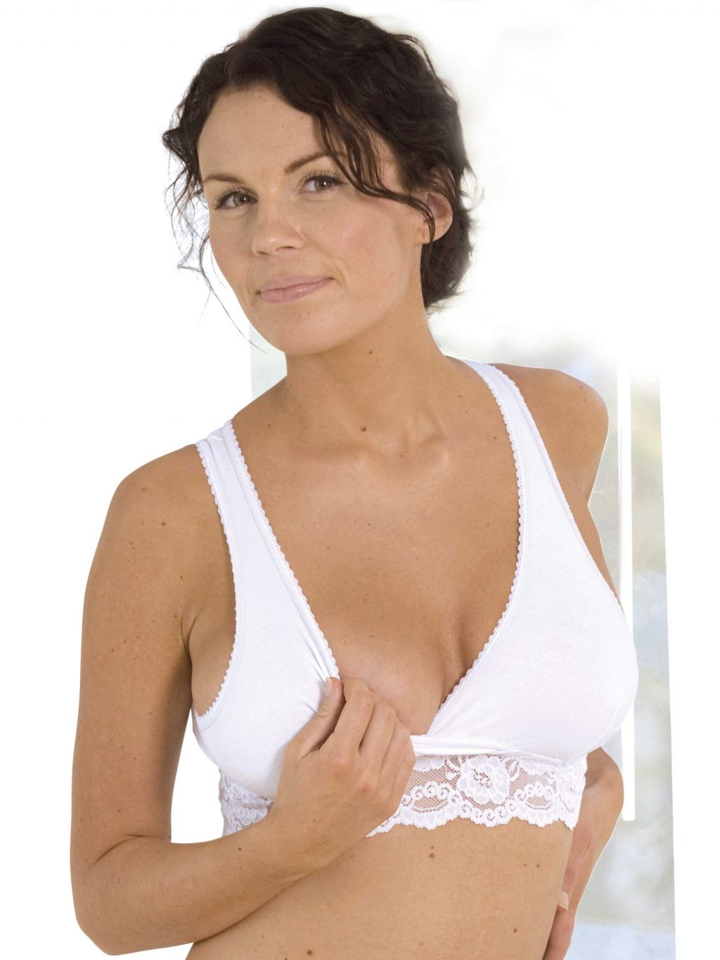 Lace nursing Carriwell white1