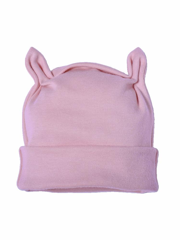 BIO kojenecká čepička růžková růžová Velikost: 50, Barva: růžová