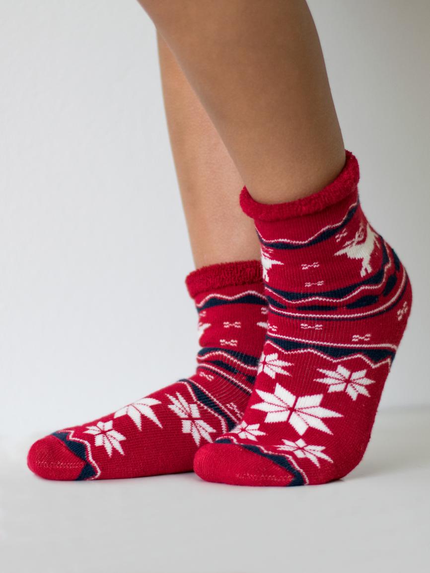 Dětské froté ponožky Barva: červená, Velikost ponožek: 20-24