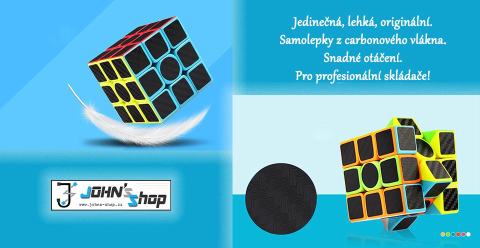 Carbonová černá Rubikova kostka