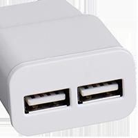 USB nabíječka s 2 porty
