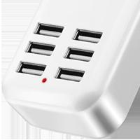 USB nabíječka s 6 porty
