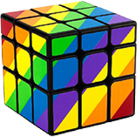 Mirror Cube - Barvy, obrazy a textury