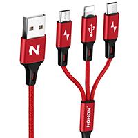3 v 1 (Micro USB + USB C + Lightning pro Apple)