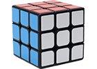 Rubikovy kostky s černým podkladem